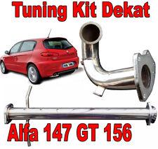 DOWNPIPE INOX + TUBO RIMOZIONE KAT ALFA 147-156 GT JTD Mjet 115 150 170cv  -T112