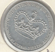 Token 1953 Coronation National Playing Fields gambling chip Patron QE2, uncommon