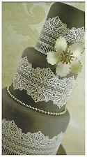 3 x Large Cake Lace Panels Weddings Engagements Anniversary Birthdays Cakes