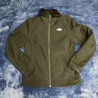 THE NORth fACE Women's Black Full Zip Jacket Knit Jacket Fleece Lining Sz M TNF