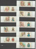 s37350 VATICANO MNH** 2000 Papi III 9v