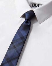 """NWT Mens Express Plaid Slim Silk Tie 2.25"""" Blue 827"""