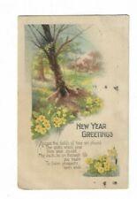 New Year Greetings Postcard.