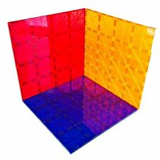 "SALE! Magnet Tiles Mag-Genius 12"" x 12"" Building Magnetic Plate Set of 3 Colors"