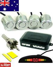 Parking Sensor Car LED Display 4 Four Reverse backup Radar System Silver AU
