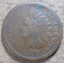 1875 Indian Head Cent! Circulated condition! Rare date, c489