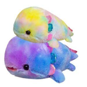 Fantastic Cosmic Sky Colour Axolotl Fish Plush Toy Rainbow Colour Dinosaur Fish