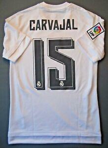 Carvajal Real Madrid Jersey 2015 2016 Home XS Shirt Mens Camiseta AK2494 ig93