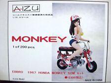 HONDA MONKEY Z50M EBBRO 1/10 Bike Girl Figure AIZU Japan F/S Tracking New