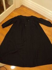 zimmermann black linen dress embroidered LARGE worn once