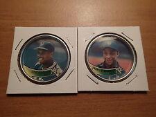 1989 Topps Baseball-COINS-New York Mets-DOC GOODEN, DARRYL STRAWBERRY-Near Mint