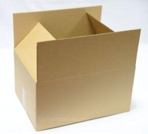 20x Faltkarton Karton 400 x 400 x 300 Faltschachtel Verpackungen Versand C-Welle