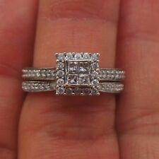 Stunning 14K Wg Diamond Bridal Set .50 tcw Sz 7 G110029-1 5.22 grams