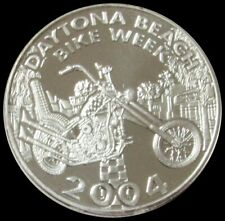1996 Daytona Beach Bike Week 1 oz Silver Round Item#J6229-6230