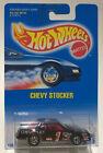HOT WHEELS CHEVY STOCKER #441 Black w/ 7 Spoke Chrome Rims New on Card 1991
