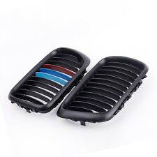 2Pcs Matte Black M-color Front Kidney Grille for BMW E36 3 Series 1997-1999