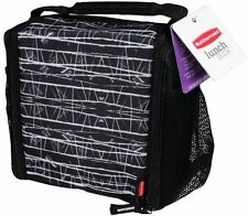 RUBBERMAID MED LUNCH BLOX INSULATED LUNCH BAG -  BLACK 1813501 NEW