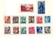 Germania - 1948 completa OCCUPAZIONE DEL RENO Set di 14. USATA SCOTT #6N16-6N29.