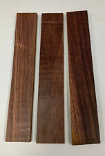 Lot Of 3 Pieces Cocobola Thin Stock Boards Lumber Crafts Wood 1/8