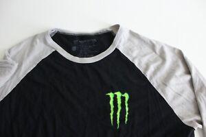 Monster Energy Drink Mid Sleeve baseball TEE T SHIRT Large L