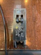 Square D Homeline 20 amp Twin 1 Pole Tandem Circuit Breaker HOMT2020