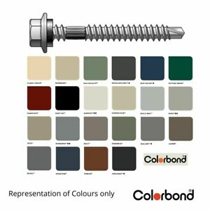 M6 x 50mm Colorbond Roofing Screws Corrugated Timber Steel