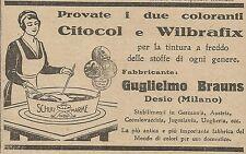 W5823 Citocol e Wilbrafix tinte per tessuti - Pubblicità 1925 - Advertising