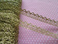 """20y Metallic Ribbon Lace Edge 1/2"""" Trim Bridal Wedding Sewing Craft-Gold V029"""