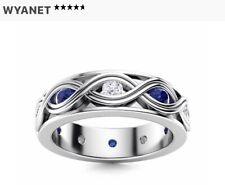 Diamondere Sapphire & Diamond Wedding Ring/Band