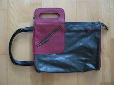 SKFK SKunkfunk Damen Handtasche grün khaki rot extravagantes Design 35 x 25 cm