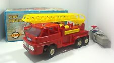 RARE 70's LYRA GREEK BATTOP REMOTE CONTROLLED FIRE ENGINE LADDER TRUCK MIB