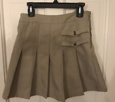 Lot 4 Girls Sz 10 Khaki & Navy 3 Skirts 1 Polo School Uniform Izod Old Navy