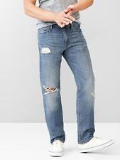GAP Men's 1969 Straight Fit Linen Jeans (Medium Destroy Wash) 30X32 NwT
