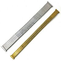 Luxus Stretch Expansion Edelstahl Uhrenarmbänder Armband 10 12 14 16 18 20 F6E6