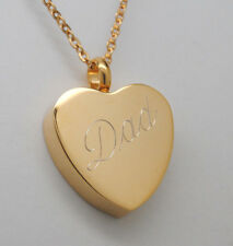 DAD CREMATION JEWELRY DAD URN NECKLACE ENGRAVABLE GOLD DAD MEMORIAL KEEPSAKE