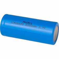 PKCELL Flat Top 26650 3.7V 5000mAh Rechargeable Li-Ion Battery