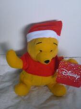 Disney WINNIE THE POOH- CHRISTMAS POOH Bear Soft Plush Toy Doll 17cmBNWTLicensed