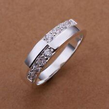 Fashion  Silver Charm Beautiful Austria Crystal Ring Jewelry round stone jewelry