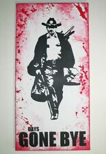 """Rick Grimes The Walking Dead Inspired Painting - 12"""" x 24"""" Spray Graffiti Style"""