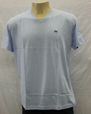 NWT MEN'S LACOSTE PIMA JERSEY V-NECK T-SHIRT STY#TH6604-51 COLOR:MINERAL XS-3XL