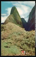 WAILUKU HI Iao Valley Needle Vtg Maui Hawaii Postcard