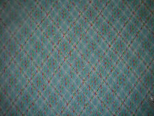 "Vintage SEWING Fabric Acrylic Knit Blue Multicolor  60"" wide 1+ yd."