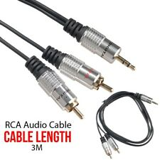 3M 3.5mm Jack to 2 RCA Aux Audio Lead Stereo Mâle Câble Twin Phono Or Plug
