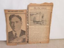 Detroit News Sunday December 9, 1923 News Clippings- Harry J. Reid& Unknown Man