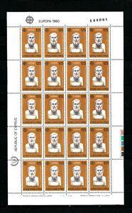 CYPRUS #533-534  1980  EUROPA   MNH  O.G 2  full sheets of  20