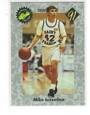 1991 CLASSIC BASKETBALL DRAFT PICKS MIKE IUZZOLINO #25 - ST. FRANCIS (PA)