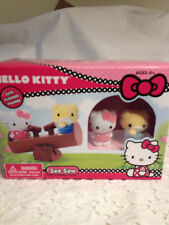 HELLO KITTY SEE SAW FLOCKED FIGURES  INCLUDES 2 FIGURES & SEE SAW NEW