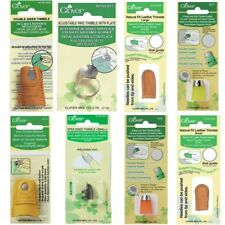 Clover Selection Of Thimbles Sewing Quilting Leather Thimble