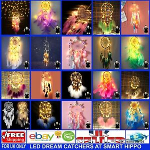 LED Dream Catchers - Unicorn - Hearts- Round Shapes and Styles at Smart Hippo