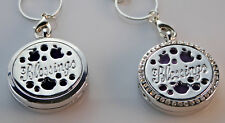 Blessings double sided Diffuser Necklace Locket Stainless Still 10ml Oil 11 pads